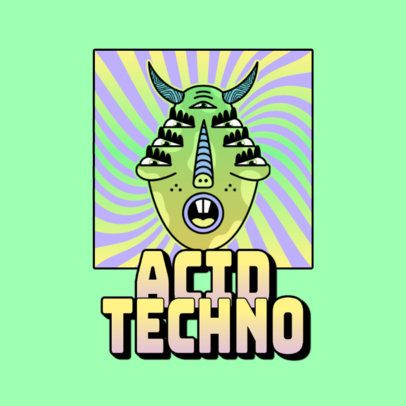 Logo Template for an Acid Techno Music Channel 3655f