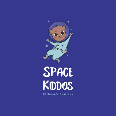 Logo Maker for a Kids Boutique with an Astronaut Character Illustration 3660b