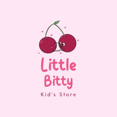 Kids Clothing Brand Logo Generator with Two Smiling Berries 3660c