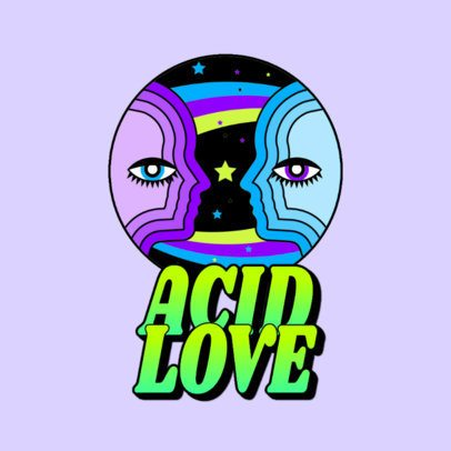 Trance Music Logo Maker Featuring Two Psychedelic Humans 3655d