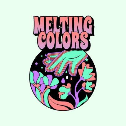Music Logo Maker Inspired in the 70s for an EDM Artist 3655e