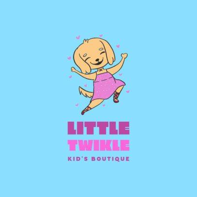 Logo Template for a Junior's Apparel Brand with a Joyful Cartoon 3660e