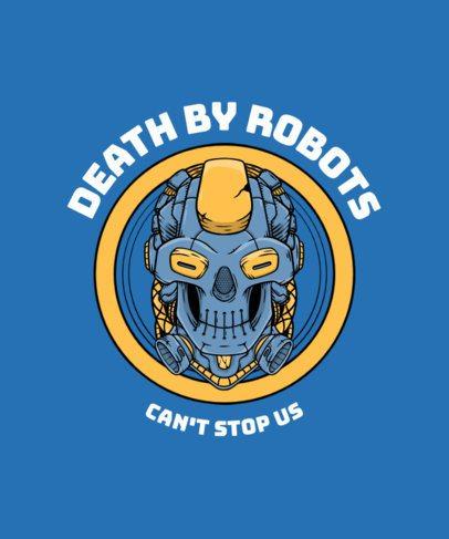 T-Shirt Design Maker Featuring a Robotic Skull 2826d-el1