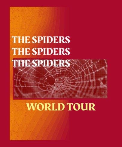 Spiderweb-Themed T-Shirt Design Maker for a Musician's Tour 2940d