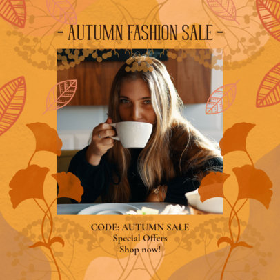 Instagram Post Template for an Autumn Fashion Sale 2946e