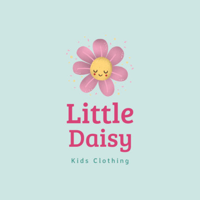 Kids' Clothing Brand Logo Generator Featuring a Cute Flower Clipart 3660m