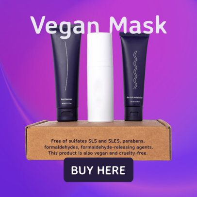 Ad Banner Generator for a Dropshipping Offer on Skincare Products  2935h