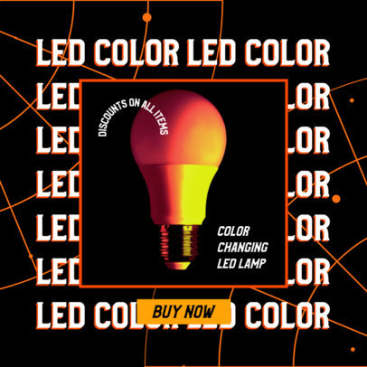 Ad Banner Generator for a Dropshipping LED Lamps Sale 2937c
