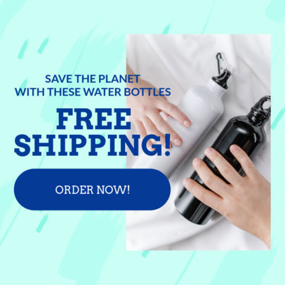 Dropshipping Ad Banner Maker Featuring a Free Shipping Offer 2936f