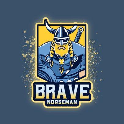 Logo Maker Featuring a Brave Viking 3650b