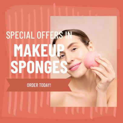 Dropshipper-Aimed Ad Banner Design Template for a Beauty Products Company 2936j
