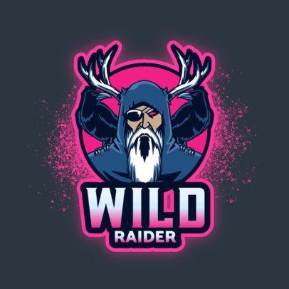 Gaming Logo Maker of a Norse Raider 3650e