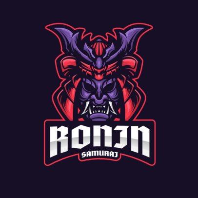 Cool Logo Template for Gamers Featuring a Samurai Helmet Clipart 2930h-el1