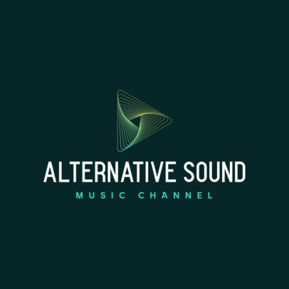 Free Logo Maker for an Alternative Music Channel with a Thin-Line Graphic 3694c