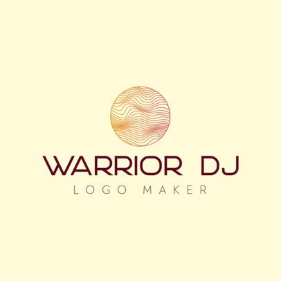 Free Logo Maker for a DJ Featuring a Thin-Line Circle Graphic 3694f