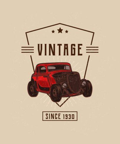T-Shirt Design Maker Featuring Hot Rod Graphics 2936-el1