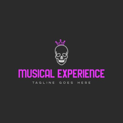 Free Logo Generator for a Rap Music Channel Featuring a Skull Graphic 3694k