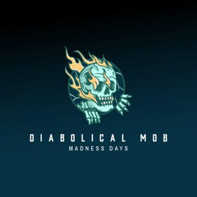 Free Gaming Logo Creator with a Diabolical Graphic 3693a