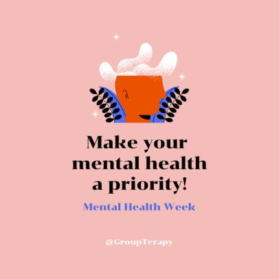 Instagram Post Generator for a Mental Health Awareness Week 2961d