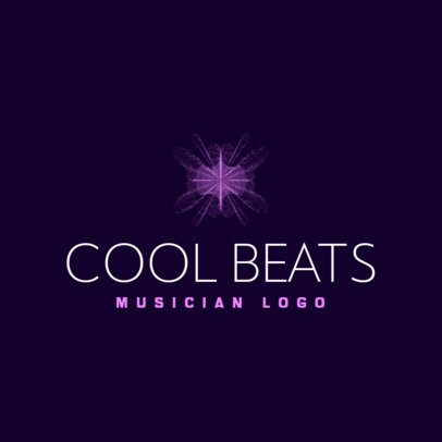 Free Logo Creator for a Beatmaker Featuring an Abstract Graphic 3694p