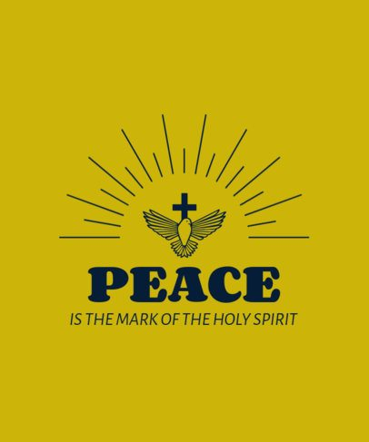Illustrated T-Shirt Design Maker with a Christianity Quote 2962f