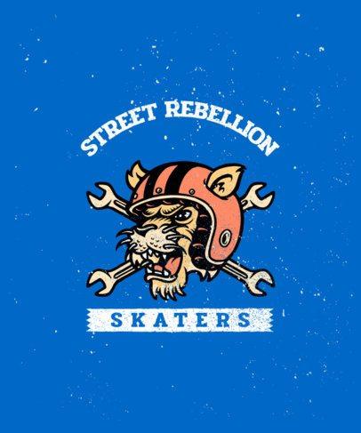 Illustrated T-Shirt Design Creator for a Rebel Skater 2934b-el1