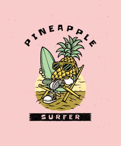 T-Shirt Design Generator with a Pineapple Surfer Graphic 2934c-el1