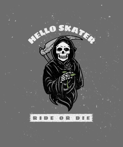 T-Shirt Design Template with a Sarcastic Reaper Graphic 2934f-el1