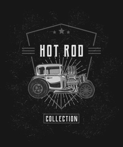 T-Shirt Design Template with a Hot Rod Illustration 2936a-el1