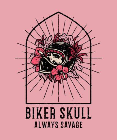 T-Shirt Design Generator Featuring a Skull With a Biker Helmet 2935b-el1