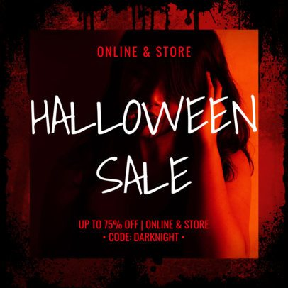 Spooky Instagram Post Design Template for a Halloween Sale 2967a