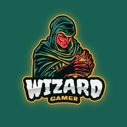 Logo Maker for a Gaming Channel with a Wizard Illustration 2939a-el1