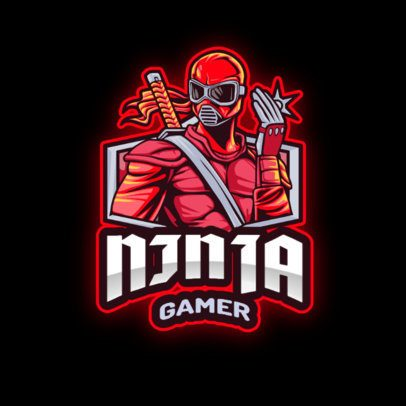 Online Logo Creator for a Gaming Squad with a Ninja Illustration 2939b-el1