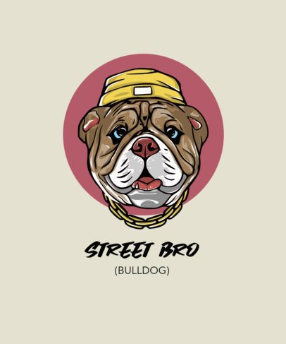 T-Shirt Design Creator Featuring a Street-Style Dog Graphic 2938b-el1
