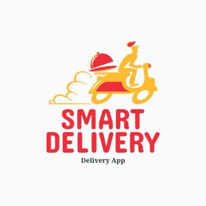 Modern Free Logo Generator with a Scooter Clipart for Delivery Businesses 3696l