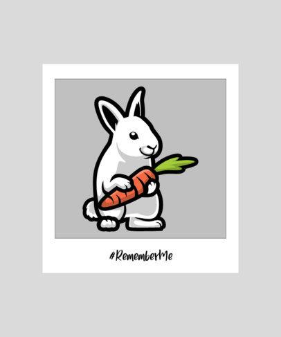 Illustrated T-Shirt Design Creator with a Cute Bunny 2932c-el1