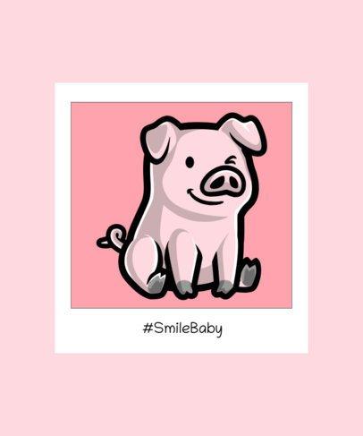 Kids T-Shirt Design Creator Featuring a Funny Pig Illustration 2932d-el1