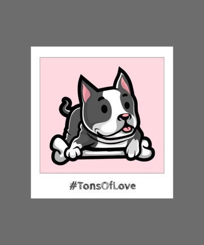 T-Shirt Design Maker for Children Featuring a Joyful Puppy Illustration 2932e-el1