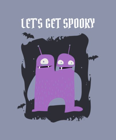 T-Shirt Design Maker for Kids Featuring a Spooky Monster 2926a-el1