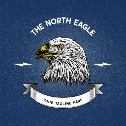 Logo Generator with a Realistic Illustration of an Eagle 2944c-el1