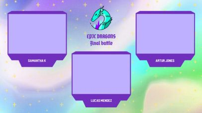 Gaming Twitch Overlay Generator with Colorful Webcam Frames 2971c