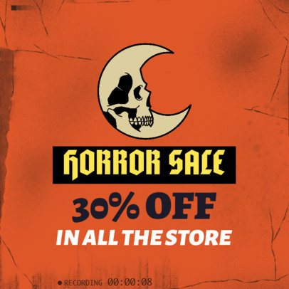 Halloween-Themed Instagram Post Template for an In-Store Sale 2968d