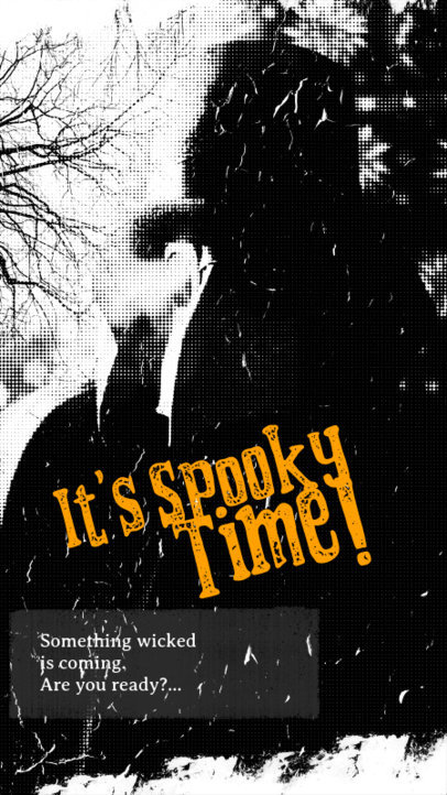 Halloween-Themed Instagram Story Template with a Horror Quote 2966c