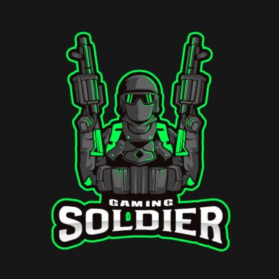 Gaming Logo Maker Featuring a Soldier with Two Grenade Launchers 2942a-el1