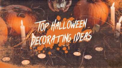 YouTube Thumbnail Generator with a Halloween Decoration-Theme 2969d