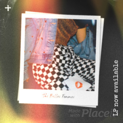 Instagram Post Video Maker for a Female Fronted Band Featuring Polaroid Pictures 2252