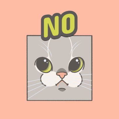 Twitch Emote Logo Generator with an Illustrated Cat 3674h