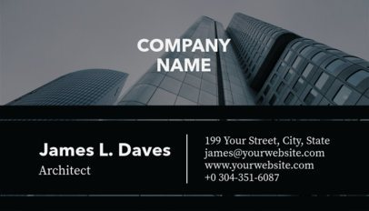 Black and White Business Card Template for Architects a241a