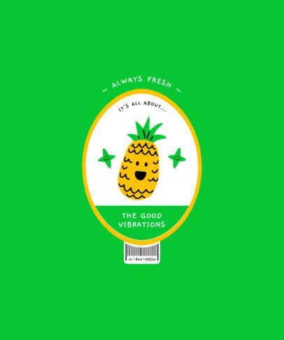 T-Shirt Design Maker Featuring Cute Illustrations of Fruits 2956-el1