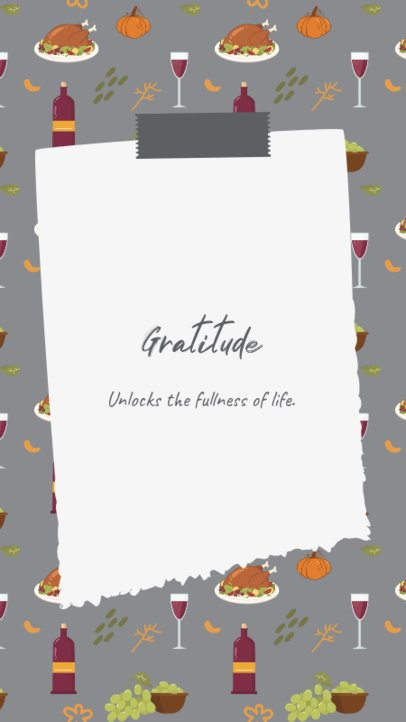 Instagram Story Maker Featuring a Thanksgiving Pattern 2947a-el1